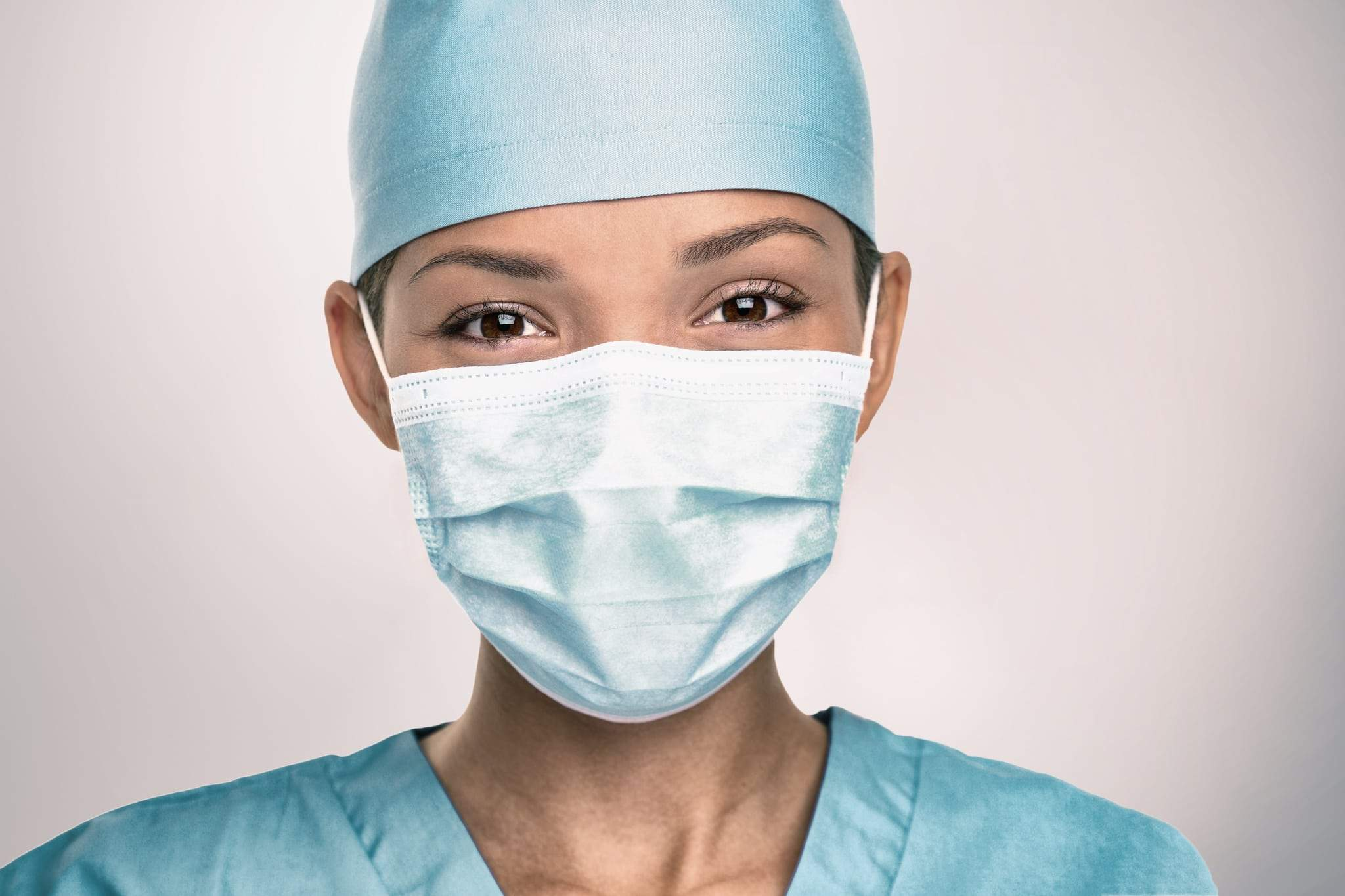 Picture of a nurse wearing a mask